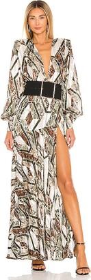 Bronx and Banco Patchwork Maxi Dress