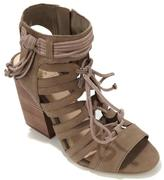 Vince Camuto Ranata Leather Block-Heel Lace-up Sandal