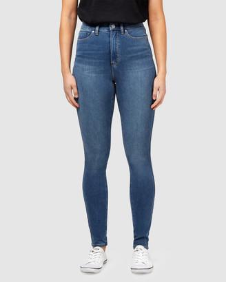 Jeanswest Freeform 360 Contour High Waisted Skinny Jeans True Blue