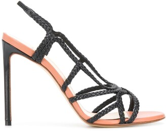 Francesco Russo Braided Straps Sandals