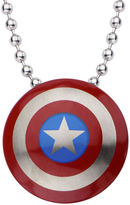 JCPenney FINE JEWELRY Marvel Captain America Shield Mens Stainless Steel Pendant Necklace