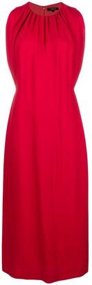 Derek Lam Sleeveless Shirred Mock Neck Dress