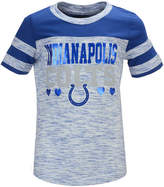 5th & Ocean Indianapolis Colts Space Dye Foil Heart T-Shirt, Girls (4-16)