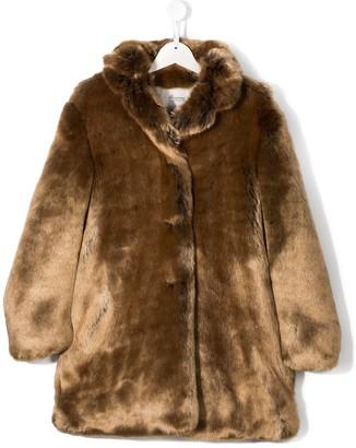 Bonpoint TEEN faux-fur coat