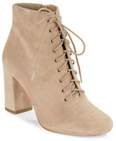 424 Fifth Gianetta Suede Lace-Up Ankle Boots