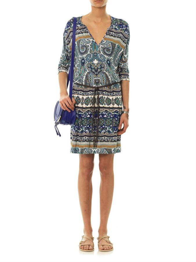 Velvet by Graham & Spencer Althe paisley-print jersey dress