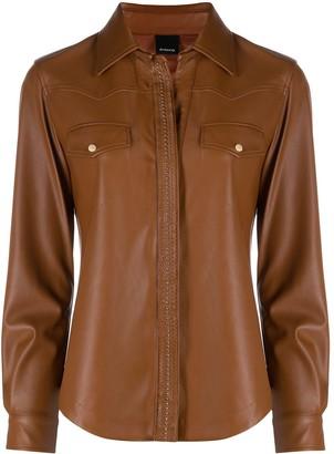 Pinko Faux Leather Shirt