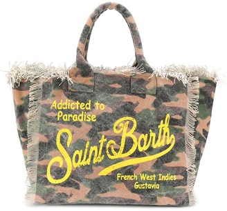 MC2 Saint Barth Vanity camouflage print beach bag