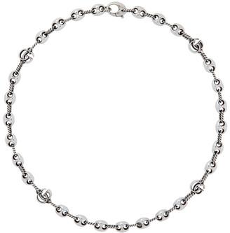 Gucci Silver GG Marmont Marina Necklace