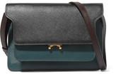 Marni Trunk Textured-leather Shoulder Bag - Black