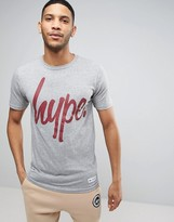 Hype T-Shirt In Gray With Script Logo