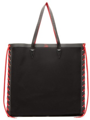 Christian Louboutin Cabalace Oversized Canvas Tote Bag - Black Red