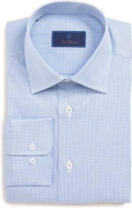 David Donahue Check Regular Fit Dress Shirt