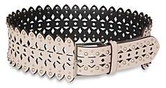 BCBGMAXAZRIA Women's Perforated Stud Leather Waist Belt