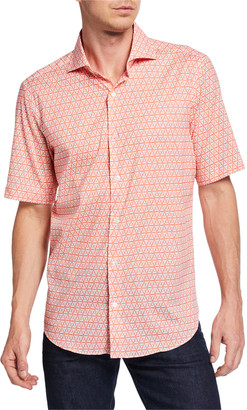 Fedeli Men's Sean Short-Sleeve Printed Jersey Shirt