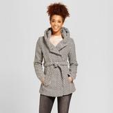 Xhilaration Women's Faux Wool Wrap Juniors') Black & White