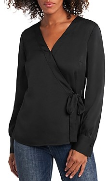 Vince Camuto Long Sleeve Wrap Front Shirt