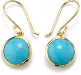 Ippolita 18kt yellow gold small Lollipop turquoise drop earrings