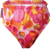 Green Baby Finis Cloth Swim Diaper - Pink Bubble - Large