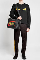 Fendi Leather Briefcase with Shoulder Strap