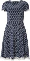 Dorothy Perkins **Tall Blue Spiral Daisy Trim Dress
