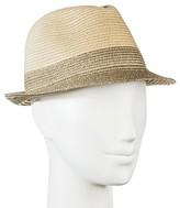 Merona Women's Straw Hat Fedora Tan with Shine
