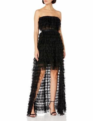 BCBGMAXAZRIA Women's Strapless Chiffon Gown
