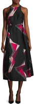 LK Bennett L.K.Bennett Women's Guilia Cotton Printed A Line Dress