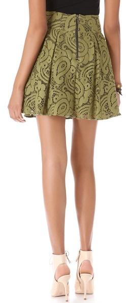Nanette Lepore Cha Cha Lace Skirt