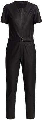 LAMARQUE Madra Leather Jumpsuit