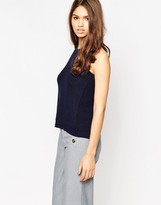 Brave Soul Halterneck Ribbed Top