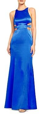 Aidan Mattox Liquid Satin Gown With Cutouts
