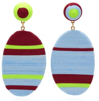 MaryJane Claverol Piccadilly Hand-wrapped Clip Earrings - Multi