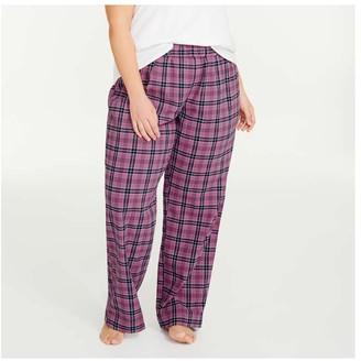 Joe Fresh Women+ Flannel Sleep Pants, Mauve (Size 1X)