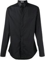 Christian Dior embellished collar shirt - men - Cotton/Polyamide/Spandex/Elastane/metal - 39