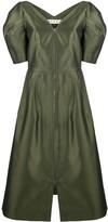 Marni Puff-Sleeved Midi Dress