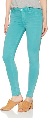 Hudson Women's Nico Mid Rise Super Skinny Raw Hem Ankle Jean