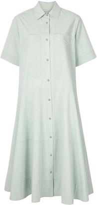 Lee Mathews Flared Midi Shirt-Dress