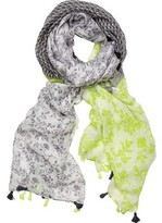 San Diego Hat Company Woven Floral Scarf with Border BSS1732 (Women's)
