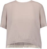 Marni Split-back wool-crepe top