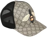 Gucci Bee Coated Gg Canvas & Mesh Baseball Hat
