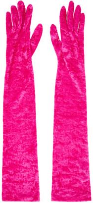 Marine Serre Pink Long Gloves