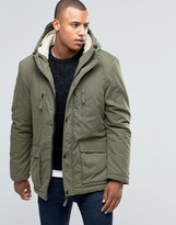 D-struct Sherpa Lined Parka Jacket