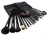 Makeup Brushes, Sokos Professional 24pcs Natural Wooden handle Black Make Up Brush Set with Case