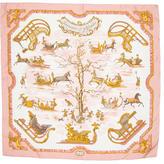 Hermes Traineaux Et Glissades Silk Scarf