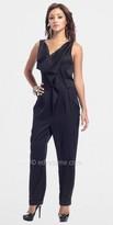 Black Cowl Neck Casual Jumpsuits by Classique