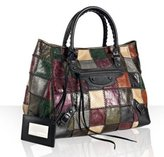 plum lambskin patchwork 'Sunday' large tote