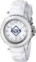 Game Time Kids' MLB-FLW-TB Flash White Youth Watch- Analog Display Japanese Quartz White Watch