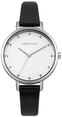Karen Millen Women's Analogue Quartz Watch with Leather Strap KM157B