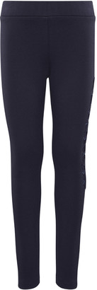 Moncler Girl's Wool Leggings with Logo Side, Size 4-6